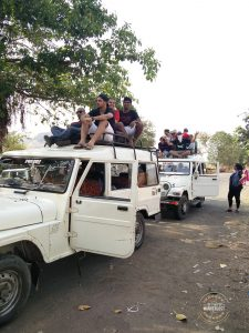 riding on jeeps