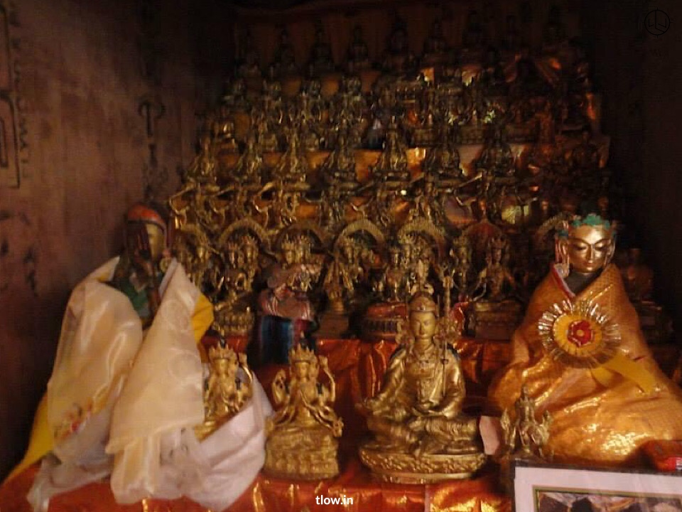 Buddha statues in the gompa