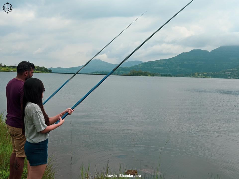 Fishing at Bhandardara