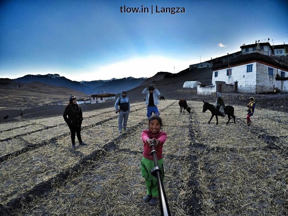 Langza village selfie