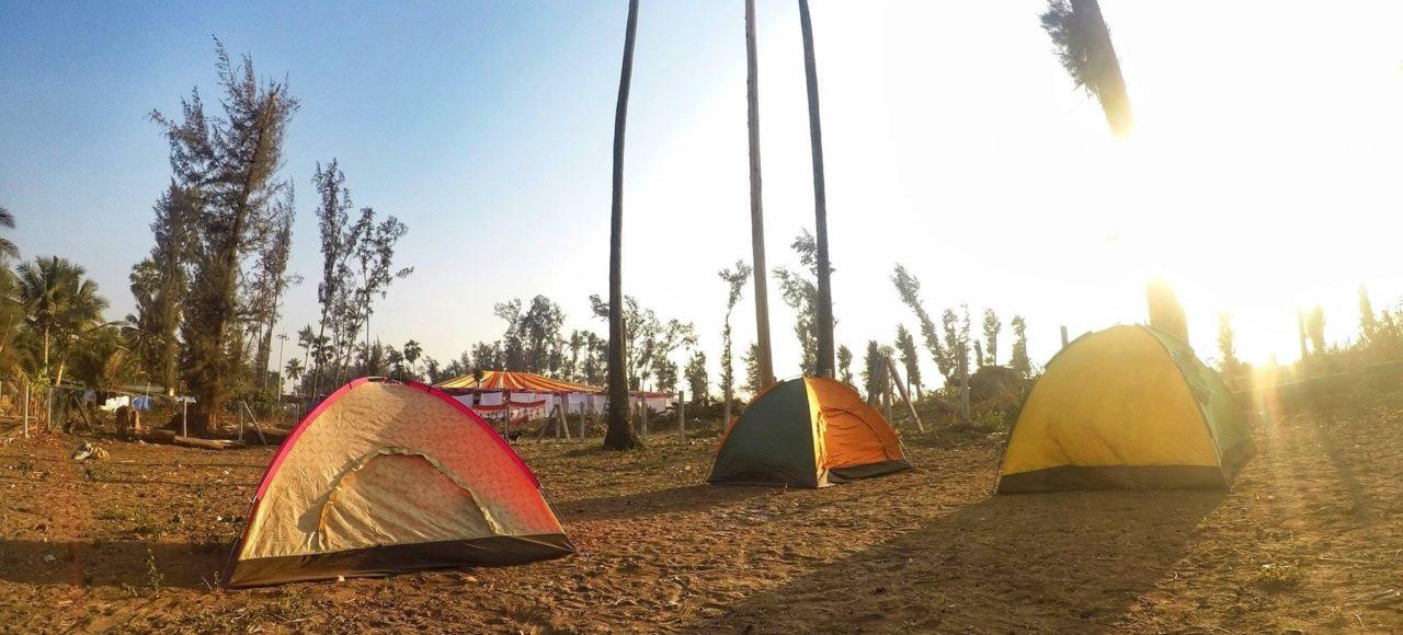 Camping at Kelve beach