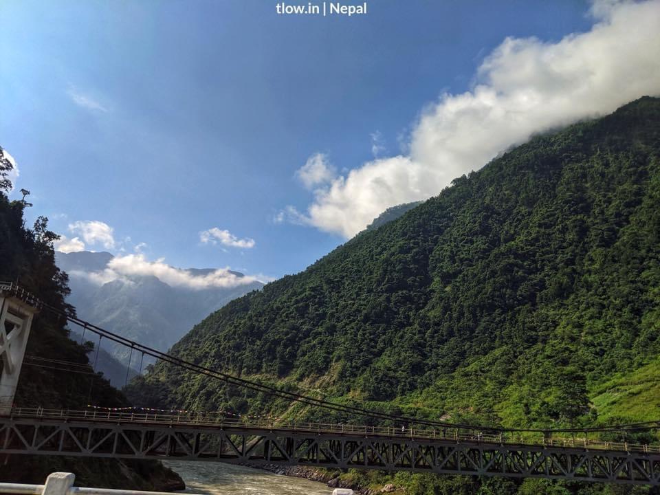 Nepal suspension bridge