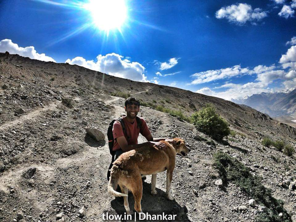 On the hike to dhankar