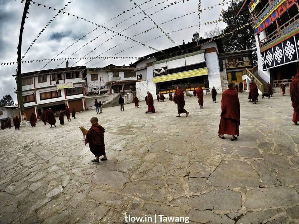 Lamas in the monastery Tawang