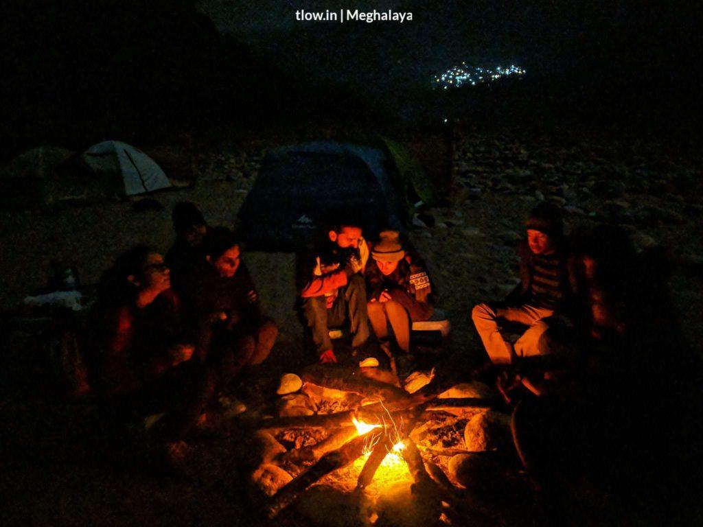 Bon fire at Dawki