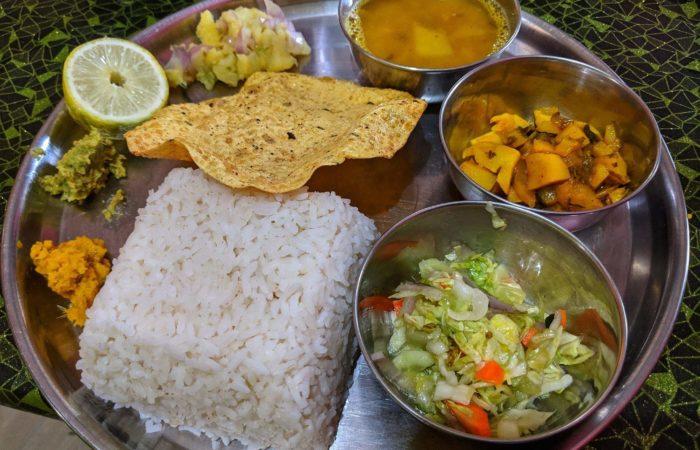 Assamese veg thali