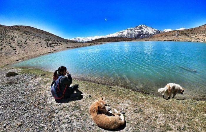 Peace at dhankar lake