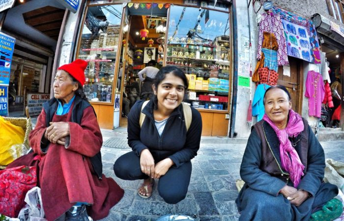 Leh market stalls