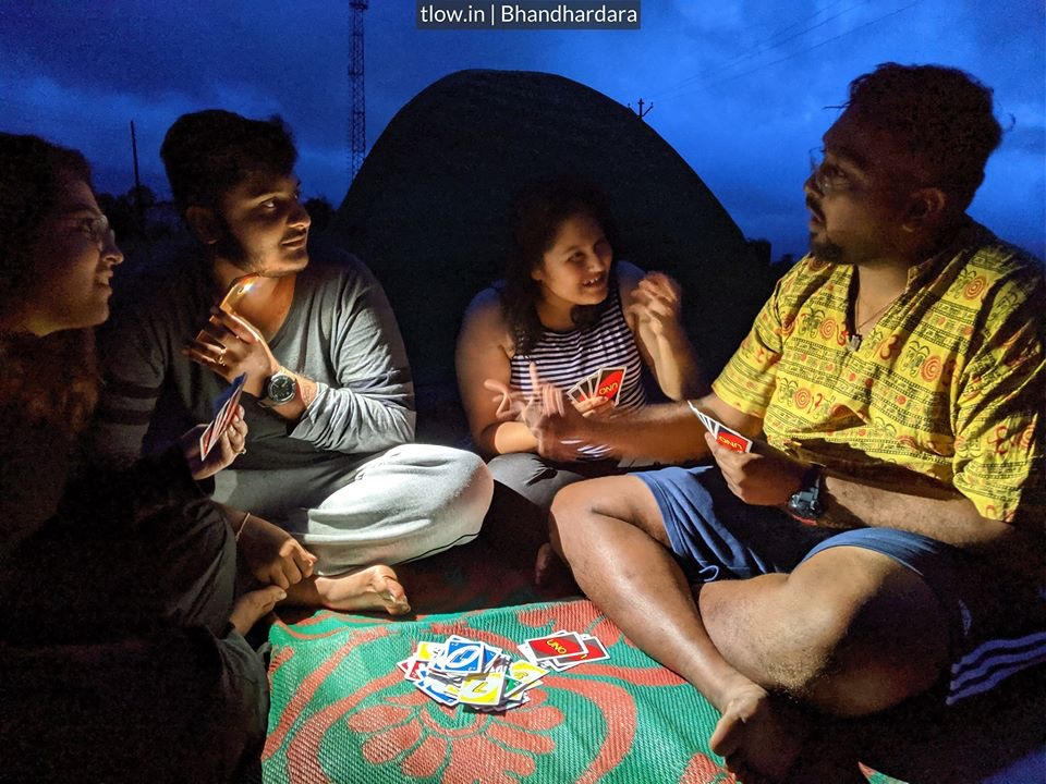 UNO in the tents At Bhandardara