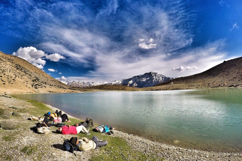 Inner peace at Dhankar lake