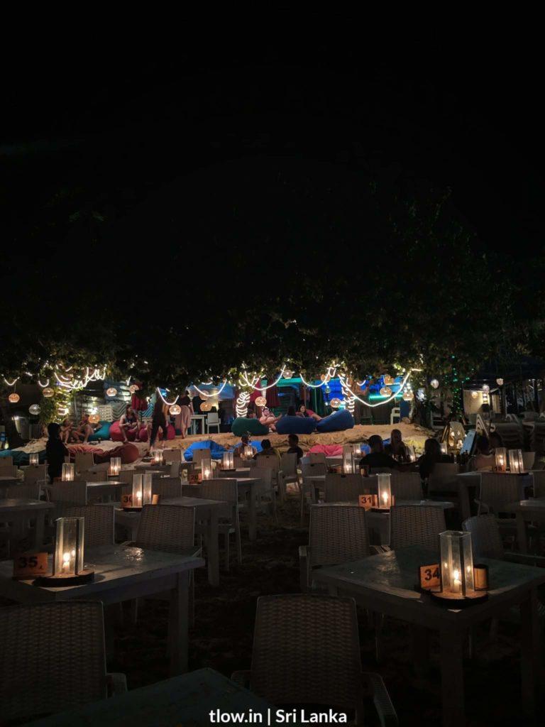 Mirissa beach cafe