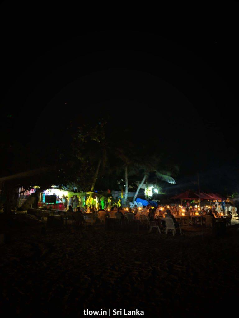 Mirisssa beach party