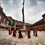 Lamas dancing in Leh