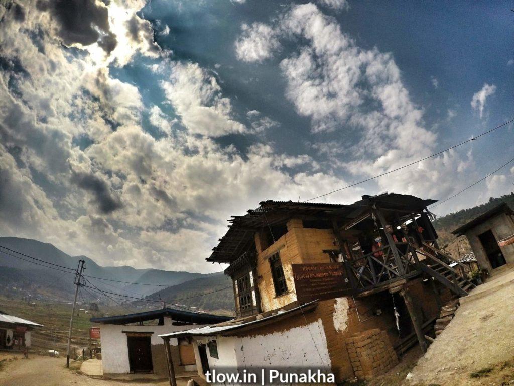 Vintage mud houses in Bhutan