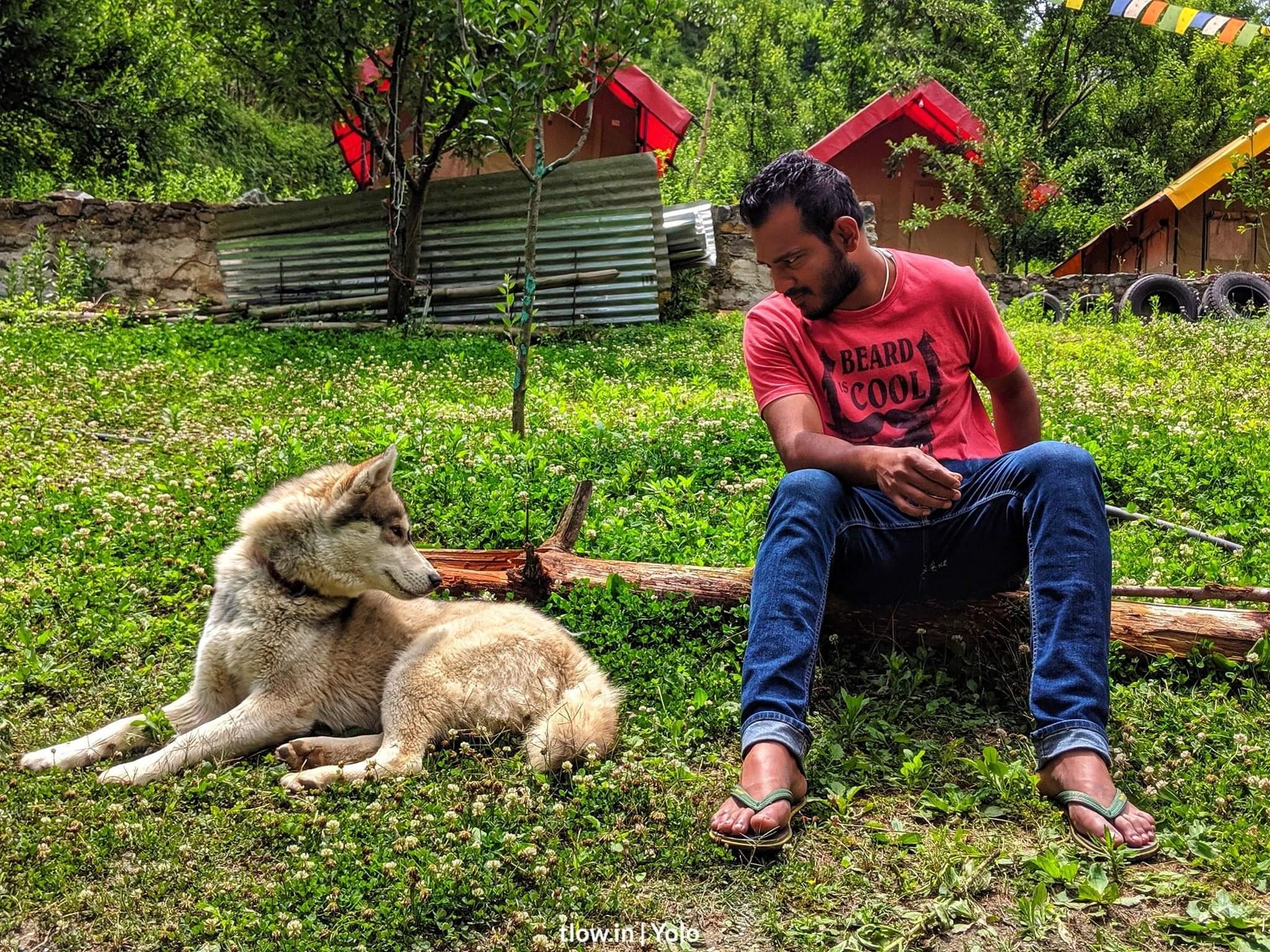 Ibrahim and ice At Yolo Kasol