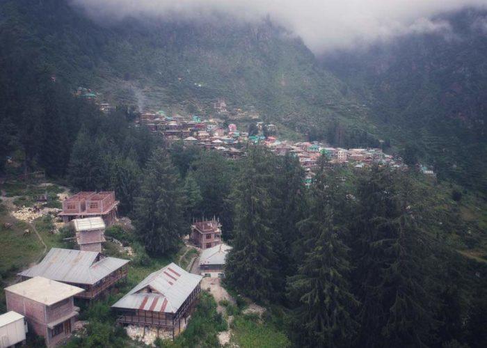 Drone view of Malana.