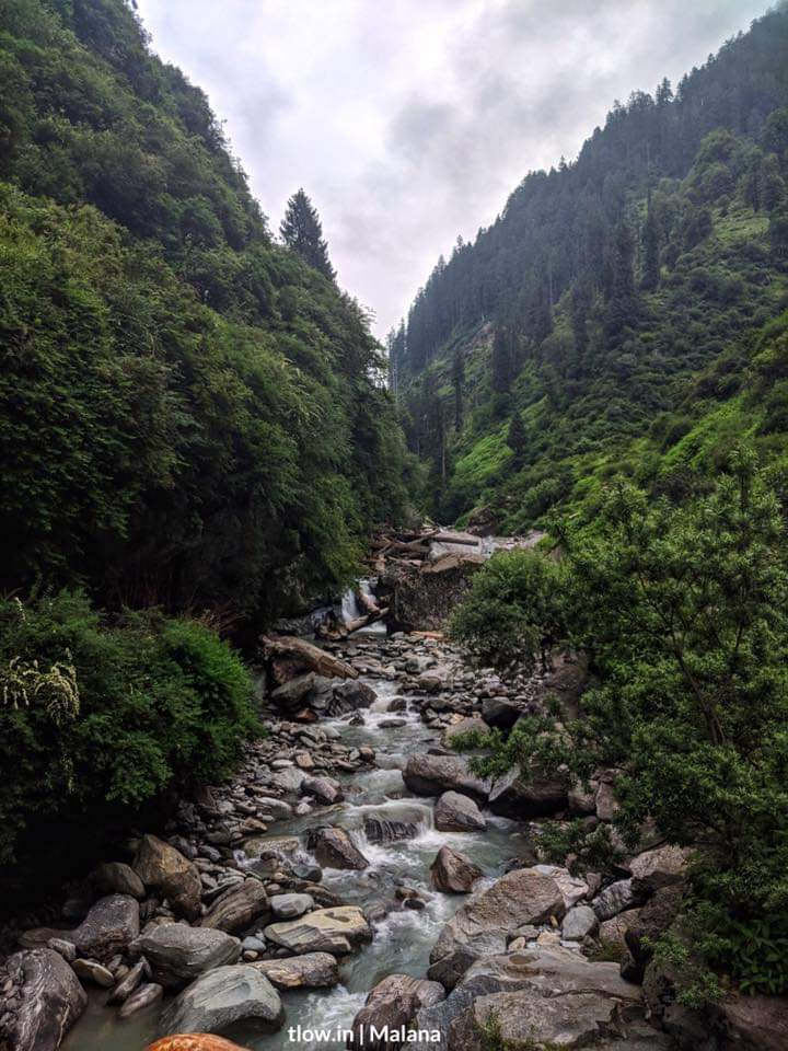River flowing to Malana
