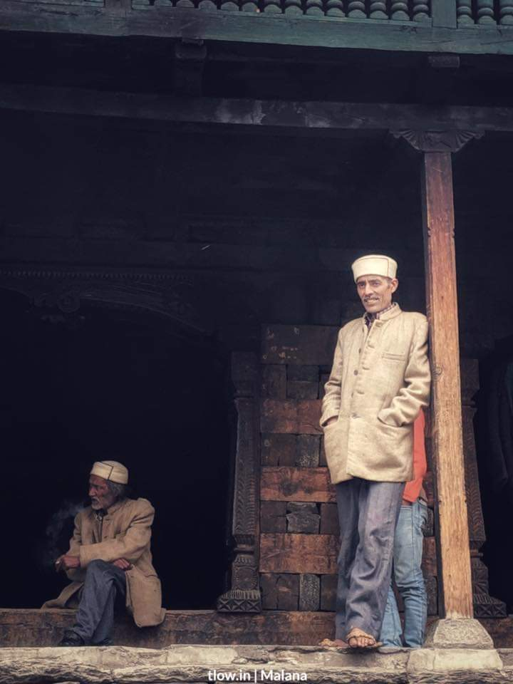 Villagers chilling at Malana