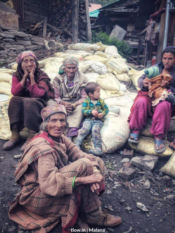 Old ladies in Malana