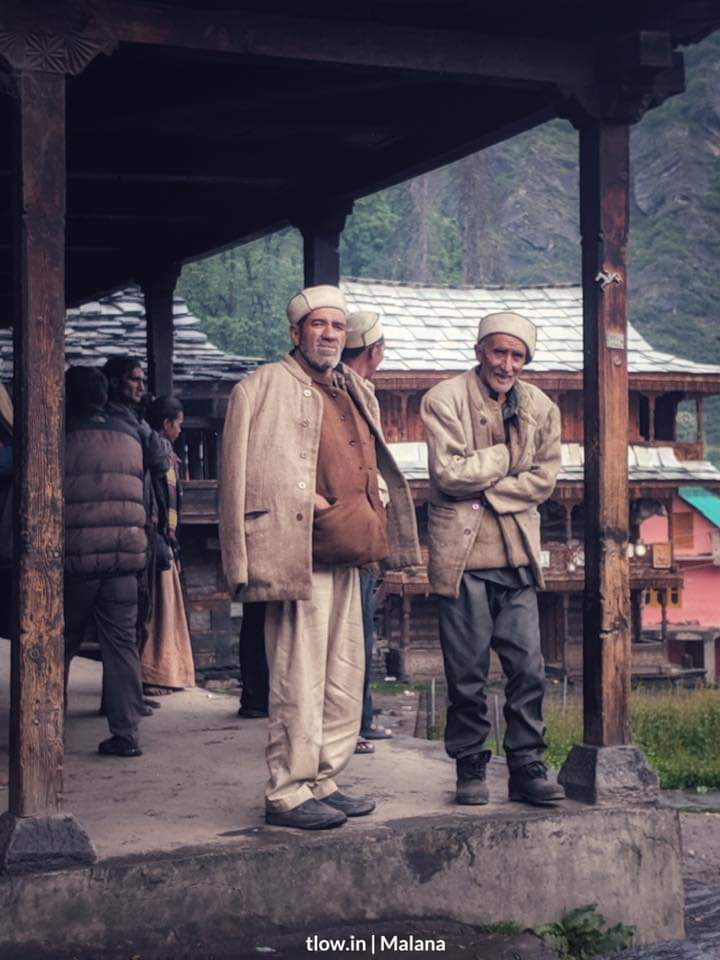 Villagers chilling in Malana