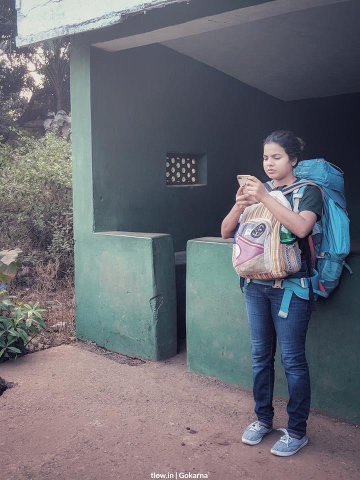 Bus stop Gokarna