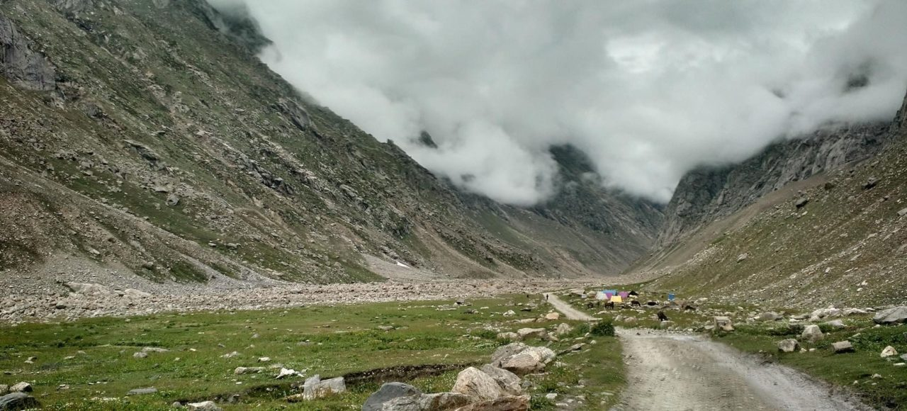 Along the road to Batal in Spiti valley