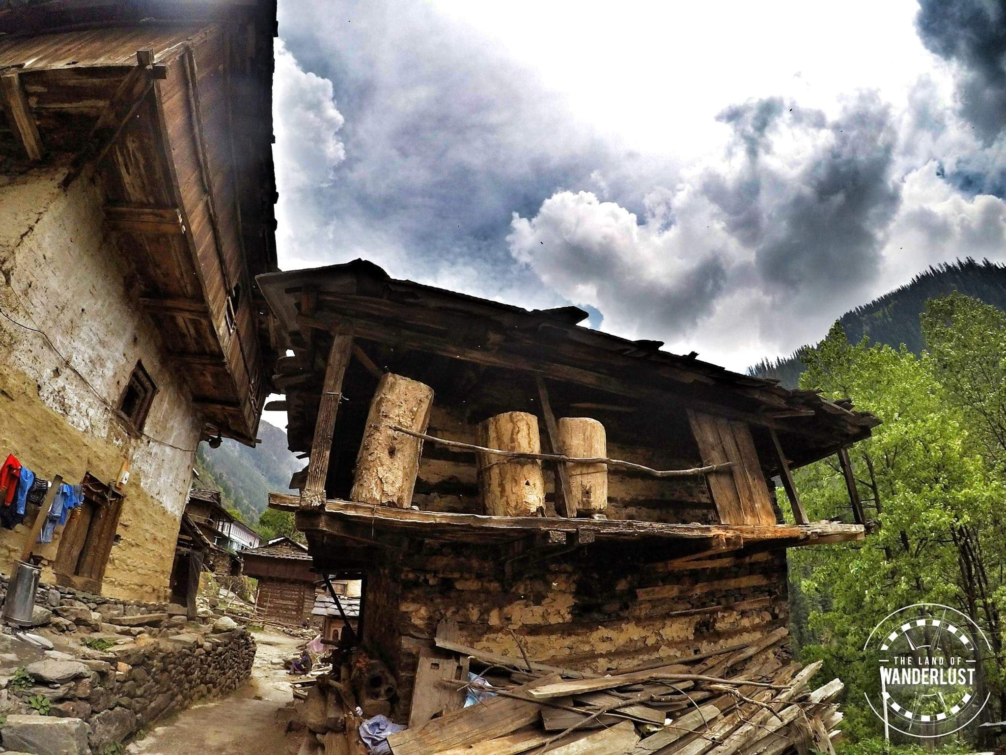 Wooden house in naktan