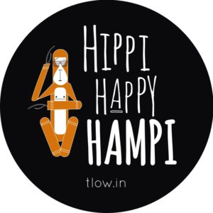 Hippie Happy Hampi Badge