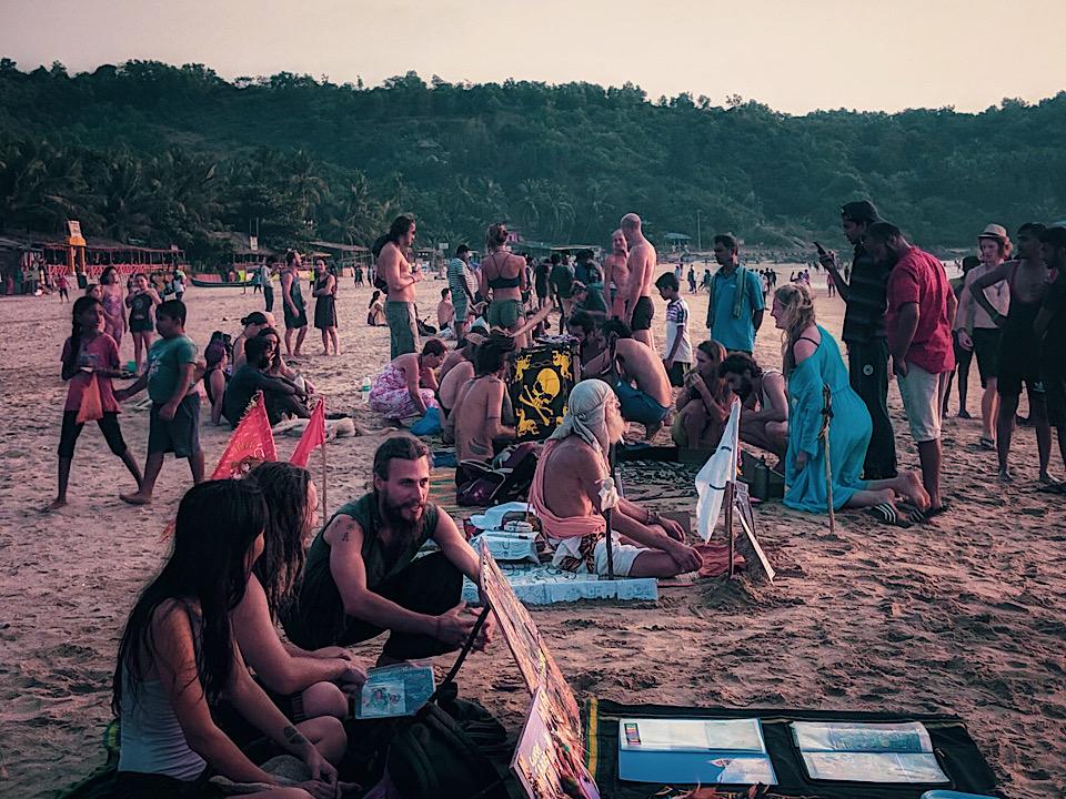 Hippie at Kudle beach Gokarna