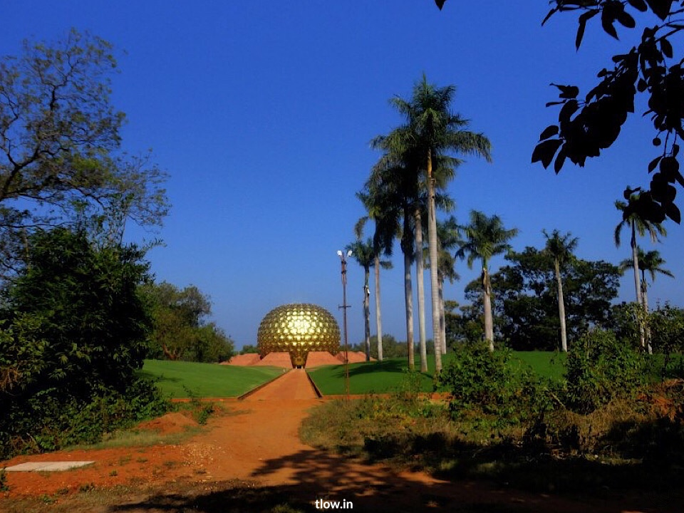 Auroville dome from a distance