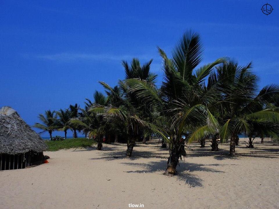Beach shack at paradise beach Pondicherry