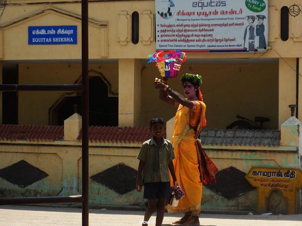 On the streets of. Pondicherry
