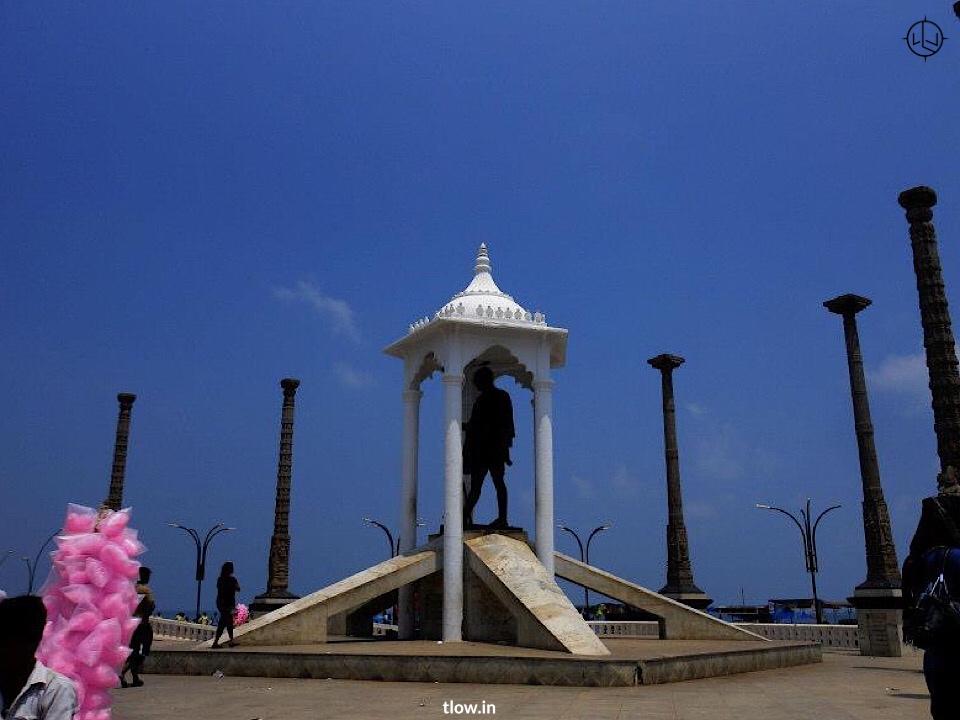 Gandhi statue at Rock Beach