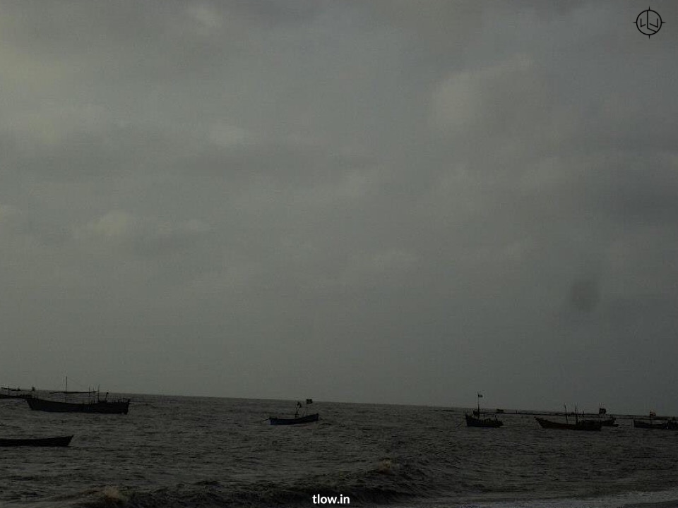 View of the beach in Daman