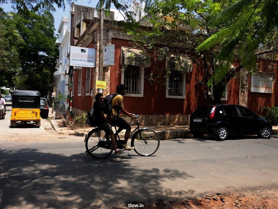 Cycling around Pondicherry