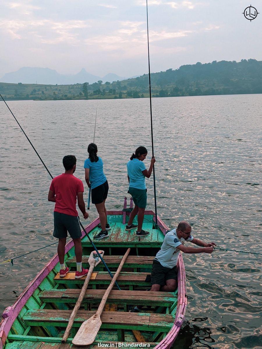 Fishing at Bhandardara lake