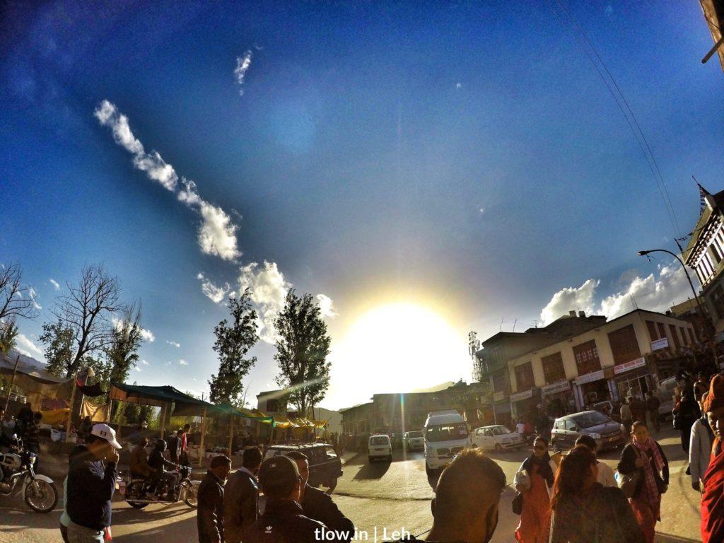 Sunset at Leh market