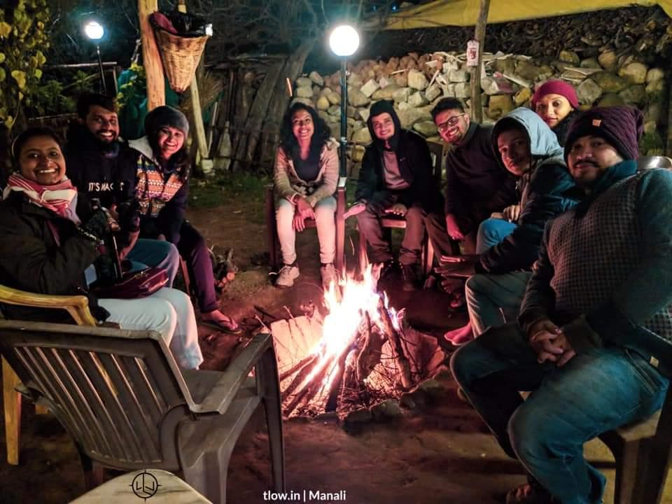Bon fire pit at Manali