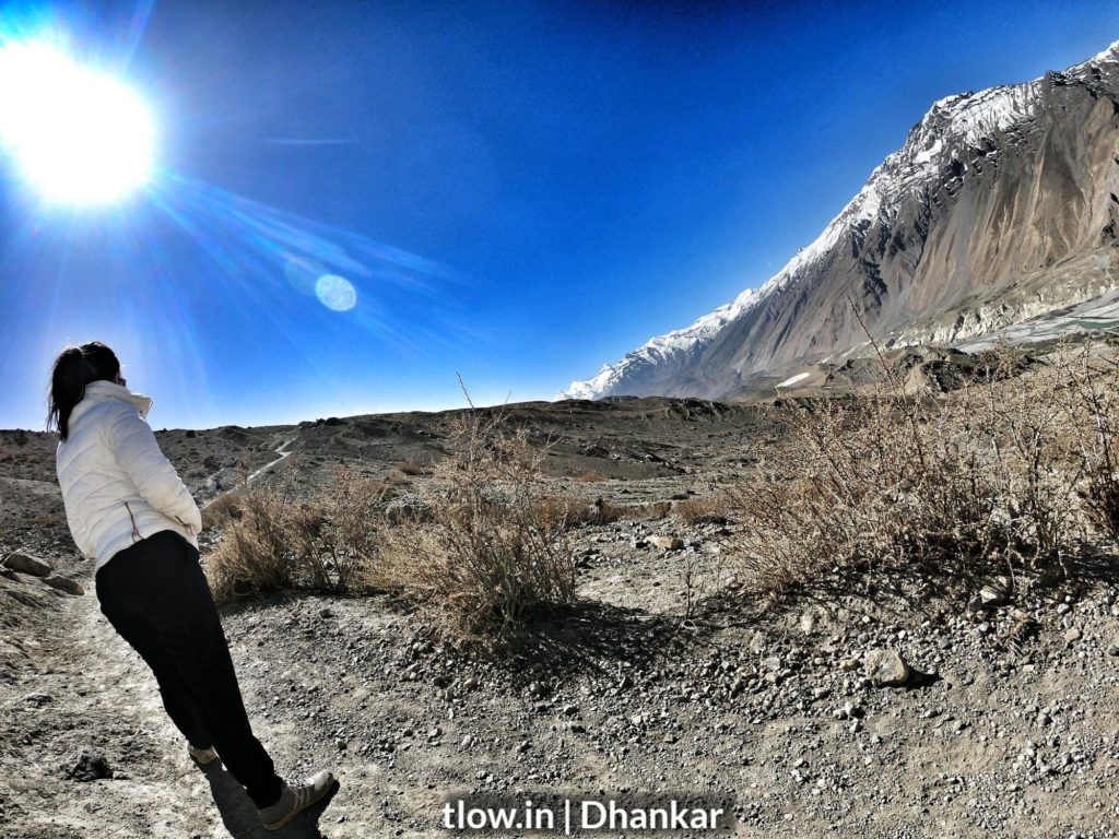 Hiking in Dhankar Spiti valley