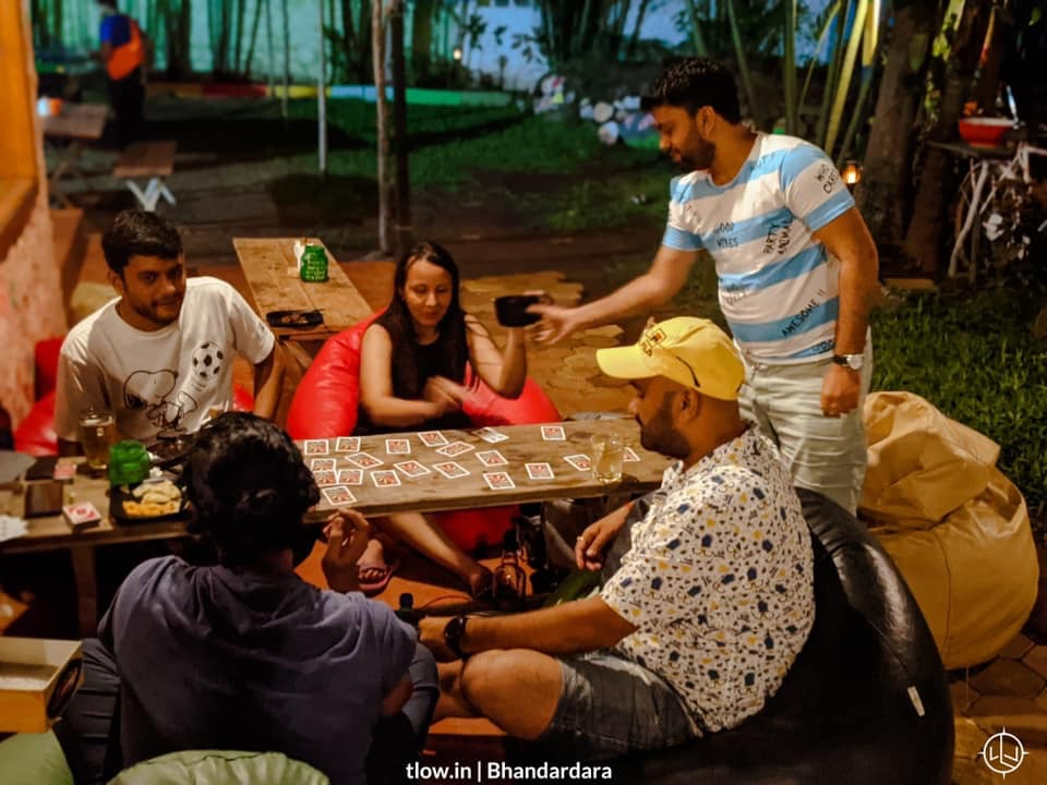 Card game in the evening at yolo cafe