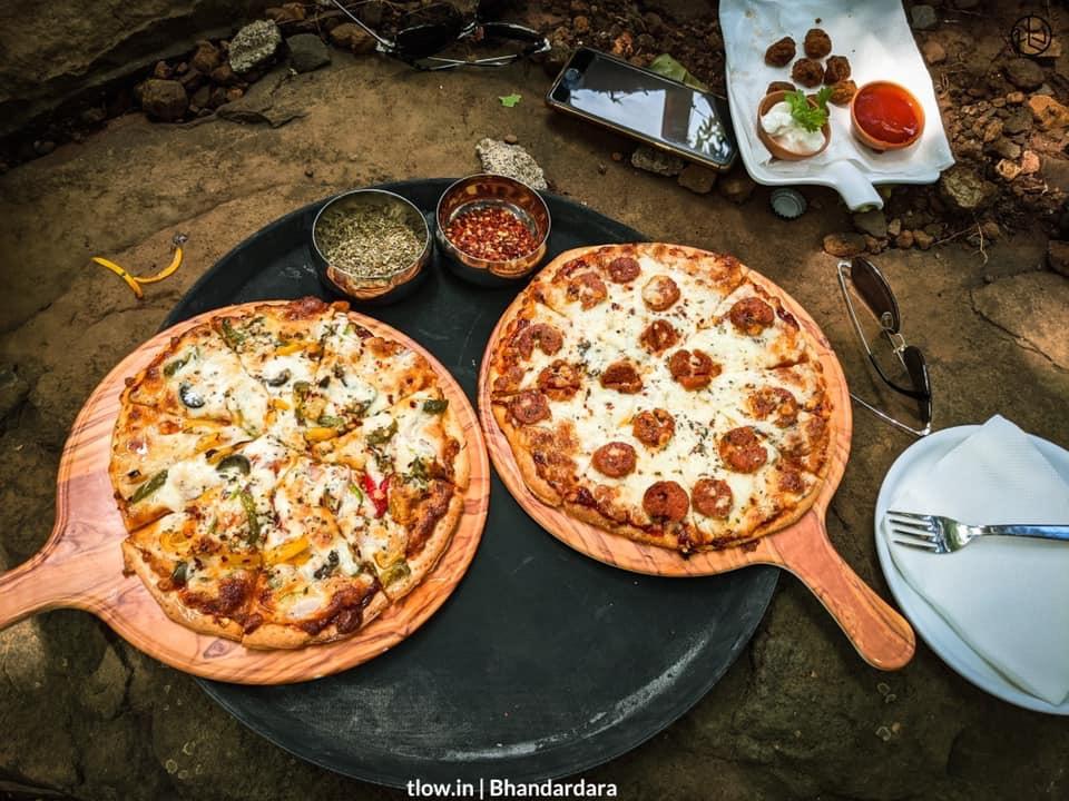 Pizza at yolo cafe 2.1 Bhandardara